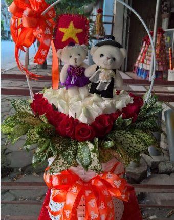 giỏ hoa tặng người yêu
