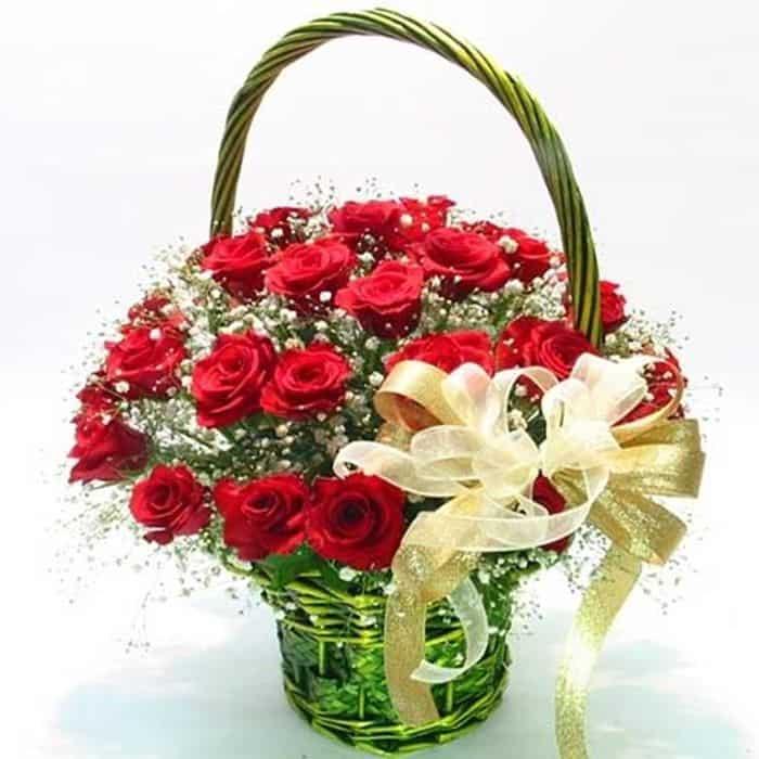 Giỏ hoa đẹp tặng vợ