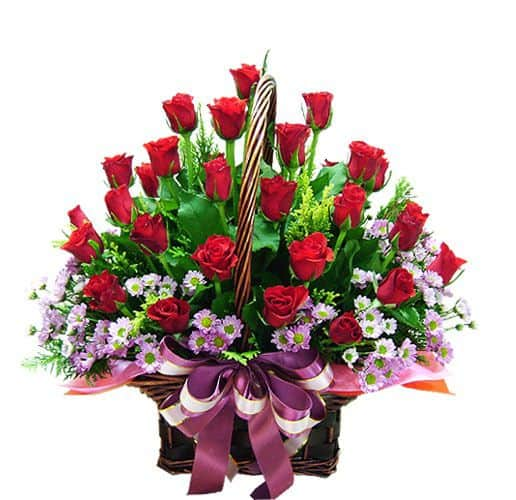 Giỏ hoa hồng tặng mẹ
