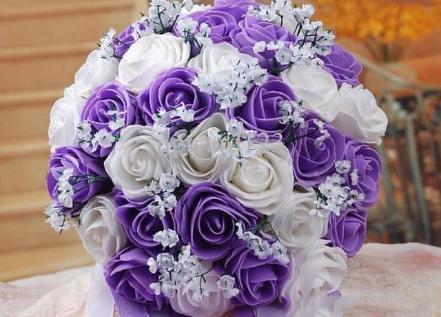 Hoa cưới màu tím đẹp