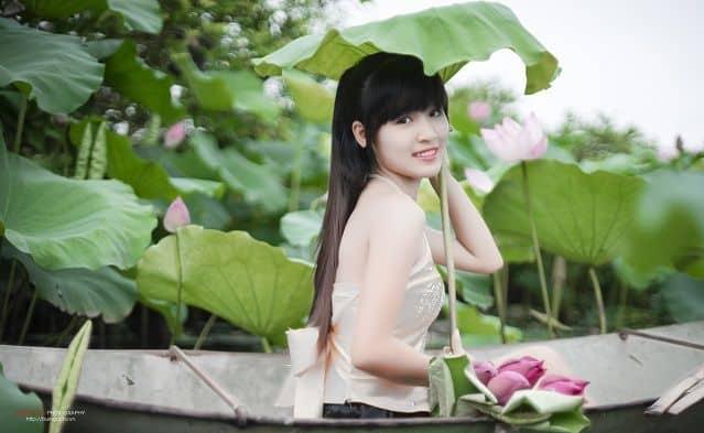 Hoa sen và phụ nữ Việt