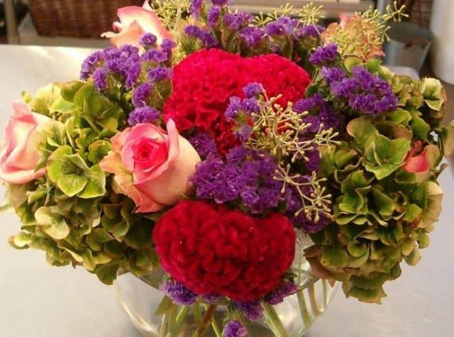 Hoa sinh nhật nhiều màu sắc
