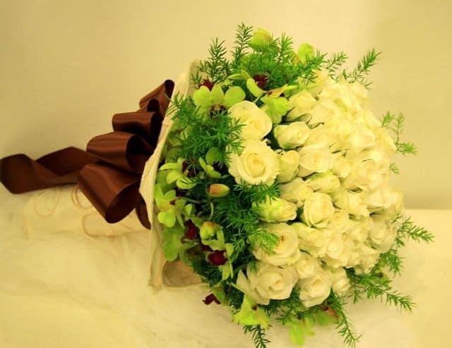 Hoa hồng trắng tặng sinh nhật