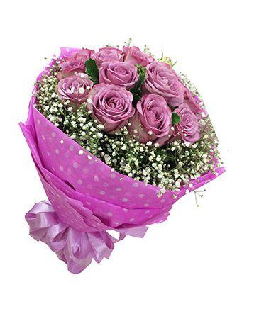 Bó hoa sinh nhật màu tím