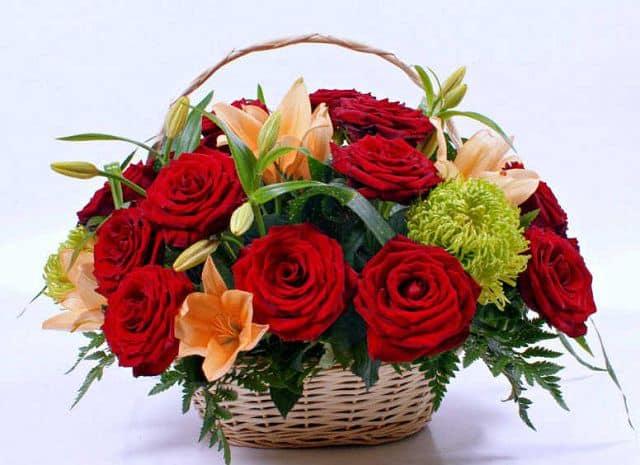 Hoa sinh nhật giỏ hoa hồng 6