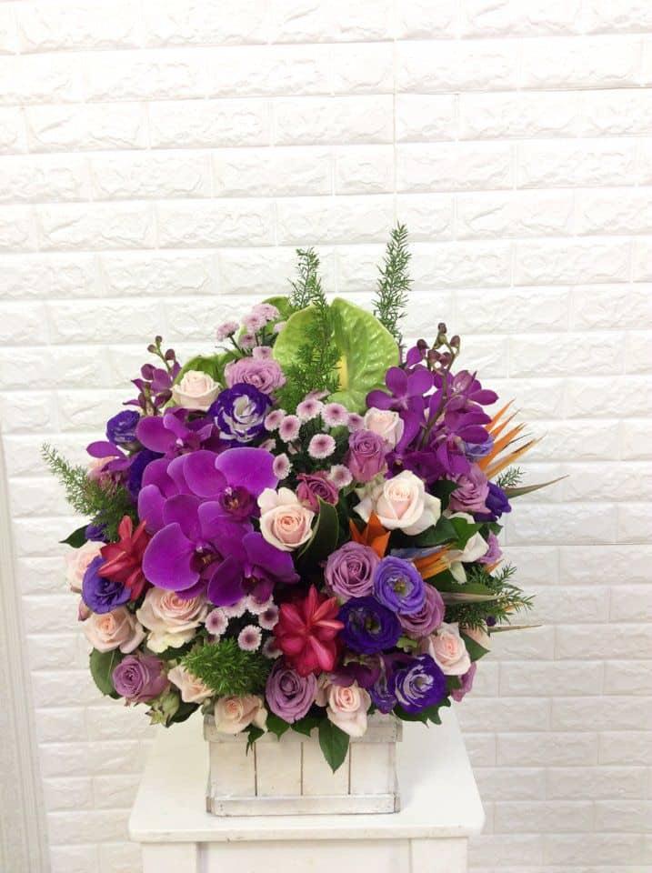 Gio hoa sinh nhat mau tim