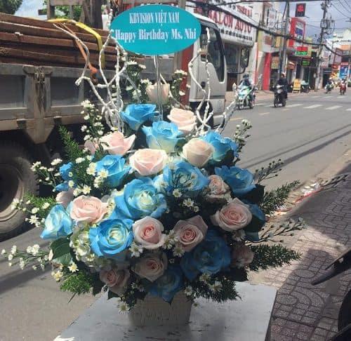Gio hoa mau xanh hi vong