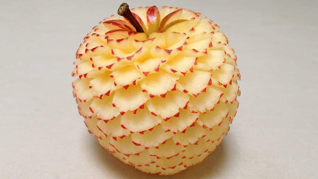 chế tác hoa từ trái cây