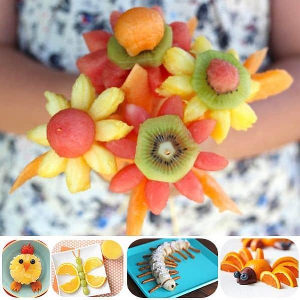 Hoa làm từ trái cây đẹp