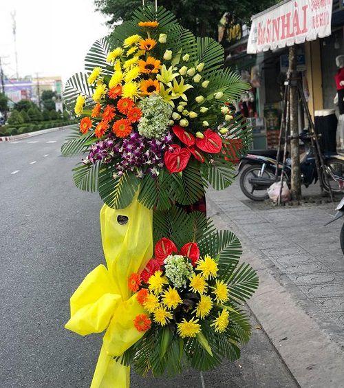 Hoa chuc mung khai truong dep re