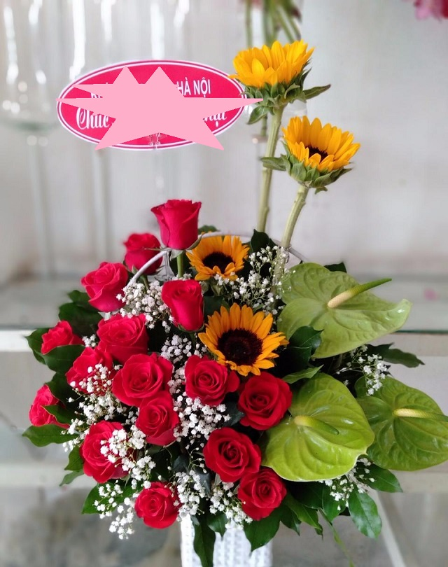 hoa mừng tân gia